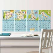 WallPops Bon Voyage 4 Pc Calendar Decal Set