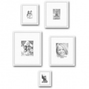 Gallery Frames, Set of 5, White
