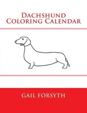 Dachshund Coloring Calendar