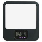 Lorell LLR80670 Fabric Panel Digital Clock Mirror