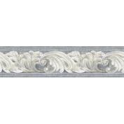 Architectural Scroll Wall Border, Grey/Cream/Beige