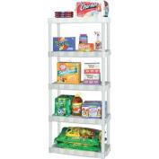 Plano Moulding 5-Shelf Shelving Unit, White
