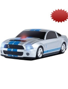 Road Mice Ford Shelby Wireless Mouse, Silver/Blue Stripes