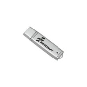 Skilcraft NSN5584987 USB Flash Drive, Password Protected, 4GB, Silver