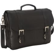 Royce Leather Vaquetta Triple Compartment Laptop Briefcase