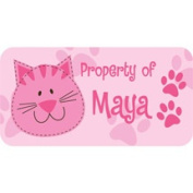 Personalised Kids Property Labels, Cat
