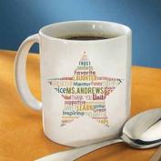 Teacher Star Text Mug