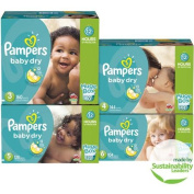 Pampers Baby Dry Nappies, Size 6, 104 Nappies