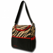 Gerber Bottle Bag, Zebra Print, Tan/Black