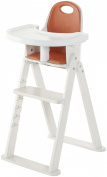 Svan Baby-to-Booster Bentwood High Chair, White/Tangerine Cushion