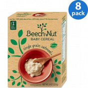 Beech-Nut Stage 1 Single Grain Oatmeal Baby Cereal, 70ml,