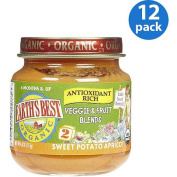 Earth's Best Organic Veggie & Fruit Blends Sweet Potato Apricot Baby Food, 120ml,