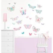 Wall Pops Flutterby Butterflies Kit Wall Decals