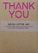 Neon Letter Art Wallet Notecards