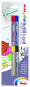 Pentel Arts 8 Colour Refill Lead, Assorted Colours, 4 Pack