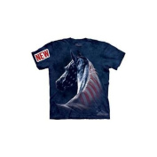 Patriotic Horse Adult T-Shirt by The Mountain - 10-3381, ADULT M