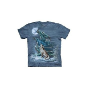 Dragon Wolf Moon Adult T-Shirt by The Mountain - 103194, ADULT 2X