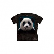 Panda Face Adult T-Shirt by The Mountain - 10-3279, ADULT L