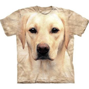 Yellow Lab Portrait Adult T-Shirt by The Mountain - 10-8146, ADULT XL