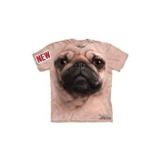 Pug Face Adult T-Shirt by The Mountain - 10-3369, ADULT XL