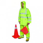 Mutual Industries 14511 Cl3 3Pc Ansi Rainsuit Lime Size Xl