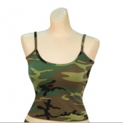 Women's Woodland Camo Casual Tank Top, Camisole-L