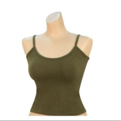 Women's Olive Drab Casual Tank Top, Camisole-L