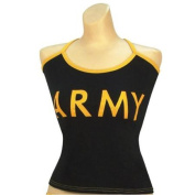 "Women's Black ""Army"" Casual Tank Top, Camisole-L"