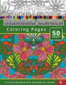 Colouring Books for Grown-ups Mandala Garden Colouring Pages