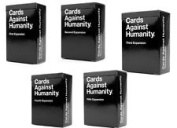Cards Against Humanity Expansion Packs one,two,three,four and five