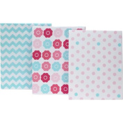 Little Bedding by NoJo Tickled Pink Crib Sheets, 3 Pack