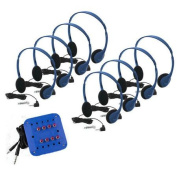 HamiltonBuhl Kids Listening Centre with 8 Personal Headphones and Jackbox