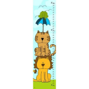Green Leaf Art Lion and Tiger Growth Chart