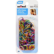 scunci Effortless Beauty Bright Polybands, 500 count