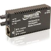 Transition Networks Mini Fast Ethernet Media Converter - 1 x Network (RJ-45) - 10/100Base-TX - 1 x Expansion
