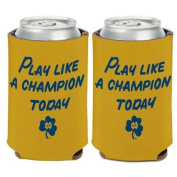 Notre Dame Fighting Irish NCAA 10cm tall Insulated Coozie Can Cooler ND Wincraft