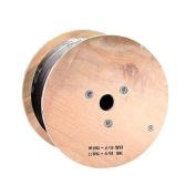 300m RG6 (18AWG), Quad Shield, CL2 Bulk Cable - Black