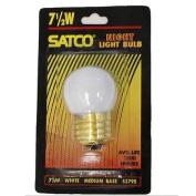 Satco S3795 7.5W 120V S11 Gloss White E26 Base Incandescent bulb