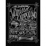 Chalkboard Canvas Print 30cm x 40cm -Vanilla Cappuccino