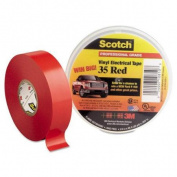 Scotch 35 Vinyl Electrical Colour Coding Tape, 1.9cm x 20m, Red