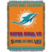 NFL 120cm x 150cm Commemorative Series Tapestry Throw, Dolphins
