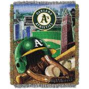 MLB 120cm x 150cm Home Field Advantage Series Tapestry Throw, Athletics