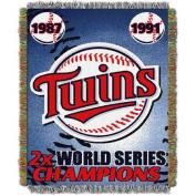 MLB 120cm x 150cm Commemorative Series Tapestry Throw, Twins