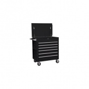 Premium Full Drawer Service Cart - Matte Black