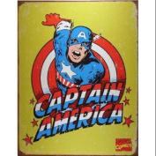Captain America Distressed Retro Vintage Tin Sign
