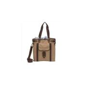 World Traveller 673225 38cm The Riverside Collection Canvas Shoulder Tote Laptop Bag