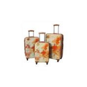 "World Traveller ""The Euro"" 3-Piece Spinner Hardside Luggage Set with TSA Lock"