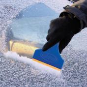 Snow Joe Edge Ice Scraper with Brass Blade, Blue