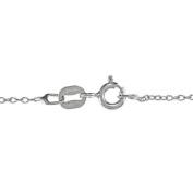 Malin + Mila Sterling Silver 1/10ct TDW Diamond Claddagh Heart Necklace
