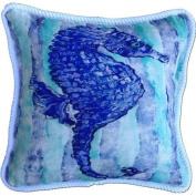 My Island Seahorse Cotton Pillow